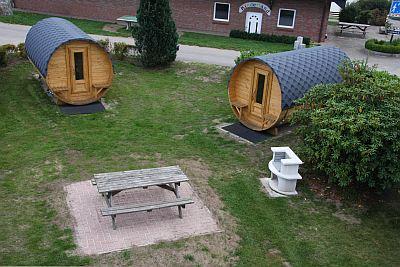 Schlaffass auf der Freizeitanlage  Campingplatz Schleswig-Holstein