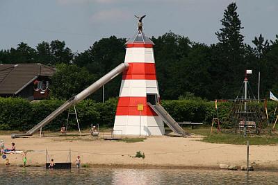 Rutsche auf dem Campingplatz Forellensee in Schleswig Holstein